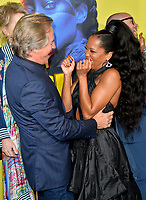 """LOS ANGELES, USA. October 15, 2019: Don Johnson & Regina King at the premiere of HBO's """"Watchmen"""" at the Cinerama Dome, Hollywood.<br /> Picture: Paul Smith/Featureflash"""