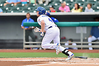 Tennessee Smokies right fielder Billy McKinney (4) runs to first during a game against the Jackson Generals at Smokies Stadium on July 5, 2016 in Kodak, Tennessee. The Generals defeated the Smokies 6-4. (Tony Farlow/Four Seam Images)