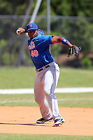 New York Mets third baseman Aderlin Rodriguez #40 during a minor league spring training game against the Miami Marlins at the Roger Dean Sports Complex on March 28, 2012 in Jupiter, Florida.  (Mike Janes/Four Seam Images)