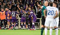 21nd September 2021; Artemio Franchi Stadium, Florence, Italy; Serie A championship football, AC Fiorentina versus Inter MIlan; Riccardo Sottil of AC Fiorentina celebrates after scoring the goal 1-0