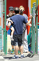 Sandra Bullock picked up little Louis from school today. Los Angeles, California on 08.05.2012.Credit: Correa/face to face. /MediaPunch Inc. ***FOR USA ONLY***