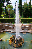 Fountain of the Dragons, Villa d'Este, Tivoli, Italy - Unesco World Heritage Site.