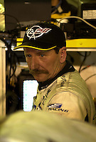 Dale Earnhardt after his late night stint in the #3 Corvette. .39th Rolex 24 at Daytona, 3/4 February,2001 Daytona International Speedway  Daytona Beach,Florida,USA.©F.Peirce Williams 2001 ..