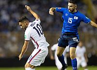 Alex Roldan #15 El Salvador,  Cristian Roldan #10 of the United States