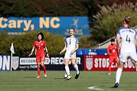 Cary, NC - Sunday October 22, 2017: Samantha Mewis during an International friendly match between the Women's National teams of the United States (USA) and South Korea (KOR) at Sahlen's Stadium at WakeMed Soccer Park. The U.S. won the game 6-0.