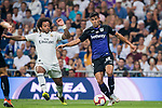 Juan Francisco Moreno Fuertes, Juanfran (R), of CD Leganes fights for the ball with Marcelo Vieira Da Silva of Real Madrid during the La Liga 2018-19 match between Real Madrid and CD Leganes at Estadio Santiago Bernabeu on September 01 2018 in Madrid, Spain. Photo by Diego Souto / Power Sport Images