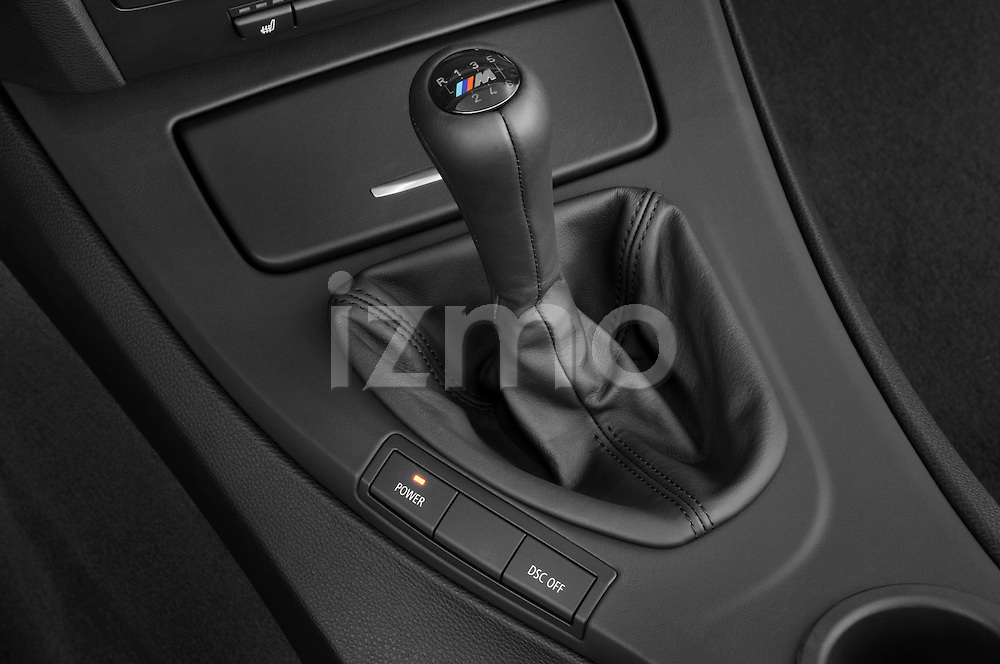 Gear shift detail view of a 2008 BMW M3 Convertible