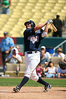August 9 2008: Matt Davidson participates in the Aflac All American baseball game for incoming high school seniors at Dodger Stadium in Los Angeles,CA.  Photo by Larry Goren/Four Seam Images
