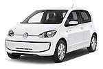 2014 Volkswagen up! e-up! 5 Door Hatchback 2WD Angular Front stock photos of front three quarter view