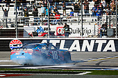 2017 NASCAR XFINITY Series - Rinnai 250<br /> Atlanta Motor Speedway, Hampton, GA USA<br /> Saturday 4 March 2017<br /> Kyle Busch, NOS Energy Drink Toyota Camry celebrates<br /> World Copyright: Barry Cantrell/LAT Images<br /> ref: Digital Image 17ATLbc2415