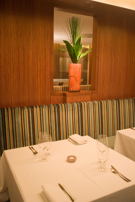 Interior, One-O-One Restaurant, Knightsbridge, London, Great Britain, Europe