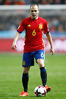 Spain's Andres Iniesta during FIFA World Cup 2018 Qualifying Round match. March 24,2017.(ALTERPHOTOS/Acero) /NortePhoto.com