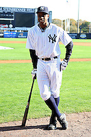 February 25, 2010:  Outfielder Curtis Granderson of the New York Yankees during photo day at Legends Field in Tampa, FL.  Photo By Mike Janes/Four Seam Images