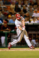 3 September 2005: David Bell, infielder with the Philadelphia Phillies, at bat during a game against the Washington Nationals. The Nationals defeated the Phillies 5-4 at RFK Stadium in Washington, DC. <br />