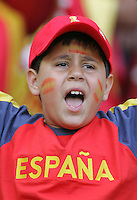 A young Spanish Fan cheers on his team before the game. Spain defeated Saudi Arabia, 1-0, in their FIFA World Cup Group H match at Fritz-Walter-Stadion in Kaiserslautern, Germany, June 23, 2006.