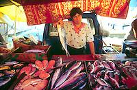 - Malta, fish market in the fishermen village of Marsaxlokk<br /> <br /> - Malta, mercato del pesce nel villaggio di pescatori di Marsaxlokk