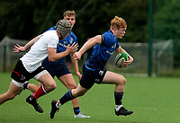 Saturday 5th September 2021<br /> <br /> Hugh Cooney during U19 inter-pro between Ulster Rugby and Leinster at Newforge Country Club, Belfast, Northern Ireland. Photo by John Dickson/Dicksondigital