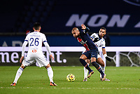 24th December 2020; Paris, France; French League 1 football, Paris St Germain versus Strasbourg;   RAFINHA  of PSG  takes on THOMASSON Adrien  of Strasbourg