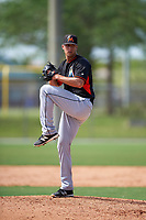 Miami Marlins Hunter Adkins (92) during a minor league Spring Training intrasquad game on March 31, 2016 at Roger Dean Sports Complex in Jupiter, Florida.  (Mike Janes/Four Seam Images)