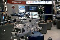 - stand Russian aeronautical industry, model of combat helicopter....- stand industria aeronautica russa, modello di elicottero da combattimento