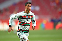4th June 2021; Madrid, Spain International football friendly, Spain versus Portugal,  Cristiano Ronaldo of Portugal during the friendly match between Spain and Portugal played at Wanda Metropolitano Stadium