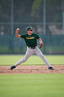 Christopher Ayres (24), of Collegeville, Pennsylvania, while playing for the Athletics during the Baseball Factory Pirate City Christmas Camp & Tournament on December 27, 2017 at Pirate City in Bradenton, Florida.  (Mike Janes/Four Seam Images)