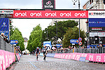 Victor Campenaerts (BEL) Team Qhubeka Assos outsprints breakaway companion Oscar Riesebeek (NED) Alpecin-Fenix to win Stage 15 of the 2021 Giro d'Italia, running 147km from Grado to Gorizia, Italy and Slovenia. 23rd May 2021.  <br /> Picture: LaPresse/Massimo Paolone | Cyclefile<br /> <br /> All photos usage must carry mandatory copyright credit (© Cyclefile | LaPresse/Massimo Paolone)