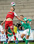 17.10.2020, Schwarzwald Stadion, Freiburg, GER, 1.FBL, SC Freiburg vs SV Werder Bremen<br /><br />im Bild / picture shows<br />Nils Petersen (Freiburg), Maximilian Eggestein (Bremen)<br /><br />Foto © nordphoto / Bratic<br /><br />DFL REGULATIONS PROHIBIT ANY USE OF PHOTOGRAPHS AS IMAGE SEQUENCES AND/OR QUASI-VIDEO.