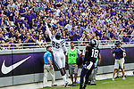Jackson State Tigers tight end Shaquil Ward (85) in action during the game between the Jackson State Tigers and the TCU Horned Frogs at the Amon G. Carter Stadium in Fort Worth, Texas.
