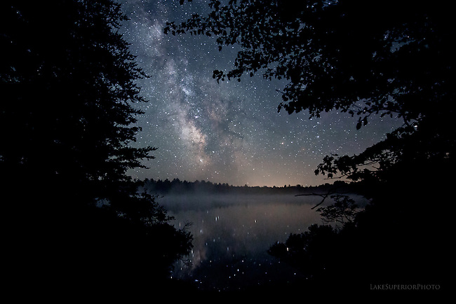 'stardrifting'  summer Milky Way, Upper Peninsula of Michigan