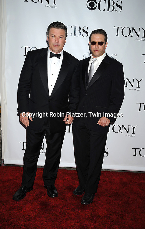Alec Baldwin and Stephen Baldwin.posing for photographers at the 62nd Annual Tony Awards.on June 15, 2008 at Radio City Music Hall. ..Robin Platzer, Twin Images