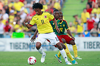Colombia's Juan Guillermo Cuadrado (l) and Cameroon's Karl Toko Ekambi (c) and Jonathan Ngwem during international friendly match. June 13,2017.(ALTERPHOTOS/Acero) (NortePhoto.com) (NortePhoto.com)