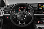Car pictures of steering wheel view of a 2018 Audi A6 Base 4 Door Sedan