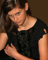 Kelci & Boo-Boo our Chihuahua.