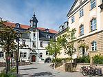 Deutschland, Thueringen, Goethe- und Universitaetsstadt Ilmenau: Goethe-Stadt-Museum und Rathaus | Germany, Thuringia, Ilmenau: Goethe-City-Museum and City Hall