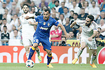 Real Madrid's Isco (l) and Daniel Carvajal (r) and Juventus' Carlos Tevez during Champions League 2014/2015 Semi-finals 2nd leg match.May 13,2015. (ALTERPHOTOS/Acero)