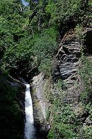 Wasserfall bei Carecho in der Castaniccia, Korsika, Frankreich