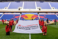 Harrison, NJ - Tuesday April 10, 2018: Champions League ball flag.  prior to leg two of a  CONCACAF Champions League semi-final match between the New York Red Bulls and C. D. Guadalajara at Red Bull Arena. C. D. Guadalajara defeated the New York Red Bulls 0-0 (1-0 on aggregate).