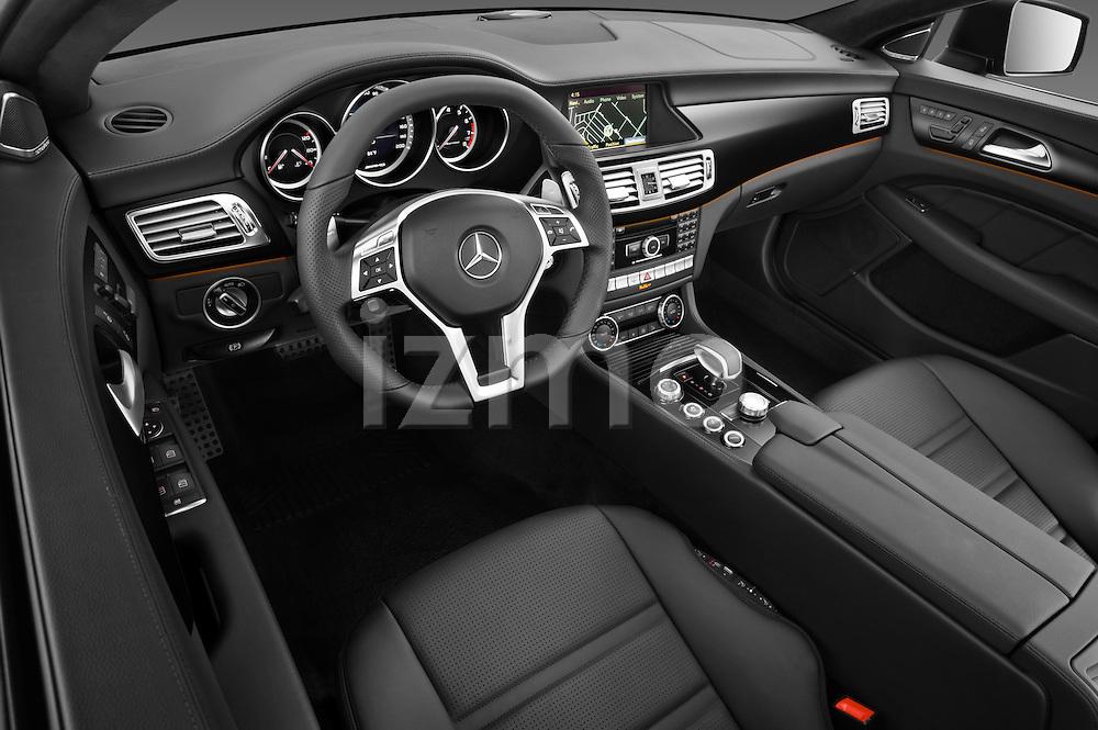 High angle dashboard photo of a 2013 Mercedes CLS Class AMG sedan