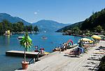 Oesterreich, Kaernten, Millstaetter See, Seeboden: Badeanstalt | Austria, Carinthia, Lake Millstatt, Seeboden: lido
