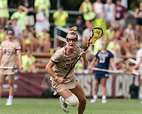 NEWTON, MA - MAY 22: Cara Urbank #26 of Boston College on the attack during NCAA Division I Women's Lacrosse Tournament quarterfinal round game between Notre Dame and Boston College at Newton Campus Lacrosse Field on May 22, 2021 in Newton, Massachusetts.