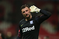 Preston North End's goalkeeper Declan Rudd applauds the fans at the final whistle <br /> <br /> Photographer Stephen White/CameraSport<br /> <br /> The EFL Sky Bet Championship - Stoke City v Preston North End - Saturday 26th January 2019 - bet365 Stadium - Stoke-on-Trent<br /> <br /> World Copyright © 2019 CameraSport. All rights reserved. 43 Linden Ave. Countesthorpe. Leicester. England. LE8 5PG - Tel: +44 (0) 116 277 4147 - admin@camerasport.com - www.camerasport.com