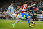Yannick Ferreira Carrasco (r) of Atletico de Madrid vies for the ball with Gustavo Daniel Cabral of RC Celta de Vigo during their La Liga match between Atletico de Madrid and RC Celta de Vigo at the Vicente Calderón Stadium on 12 February 2017 in Madrid, Spain. Photo by Diego Gonzalez Souto / Power Sport Images