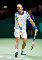 Februari 13, 2015, Netherlands, Rotterdam, Ahoy, ABN AMRO World Tennis Tournament, Gilles Muller (LUX)<br /> Photo: Tennisimages/Henk Koster