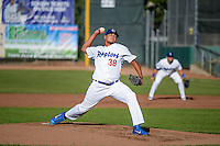 Ogden Raptors starting pitcher William Soto (38) delivers a pitch to the plate against the Idaho Falls Chukars in Pioneer League action at Lindquist Field on June 23, 2015 in Ogden, Utah. Idaho Falls beat the Raptors 9-6.  (Stephen Smith/Four Seam Images)