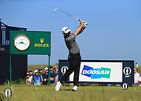 18th July 2021; Royal St Georges Golf Club, Sandwich, Kent, England; The Open Championship,  Golf, Day Four;  Louis Oosthuizen (RSA) at the par three 6th hole