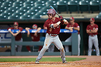 Jake Palomaki (11) of the Boston College Eagles at bat against the North Carolina State Wolfpack in Game Two of the 2017 ACC Baseball Championship at Louisville Slugger Field on May 23, 2017 in Louisville, Kentucky. The Wolfpack defeated the Eagles 6-1. (Brian Westerholt/Four Seam Images)
