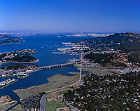 aerial photograph of Sausalito to San Francisco, Marin County, California