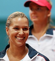 Slovakia's player Dominika Cibulkova smile, during the World Group play-off Fed Cup match in Bratislava, Slovakia, Saturday, Apr. 16, 2011. (Srdjan Stevanovic/Starsportphoto ©).