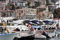 Veduta del porto e del Castello di Rapallo.<br /> A view of Rapallo, with the harbor and the castle.<br /> UPDATE IMAGES PRESS/Riccardo De Luca